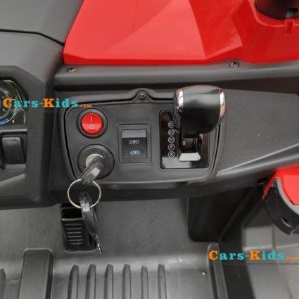 Электромобиль Buggy XMX603 красный (сенсорный дисплей, 2х местный, полный привод, резина, кожа, пульт, музыка)