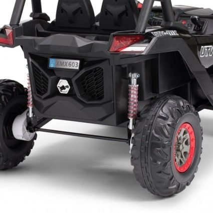 Электромобиль Buggy XMX603 черный (сенсорный дисплей, 2х местный, полный привод, резина, кожа, пульт, музыка)