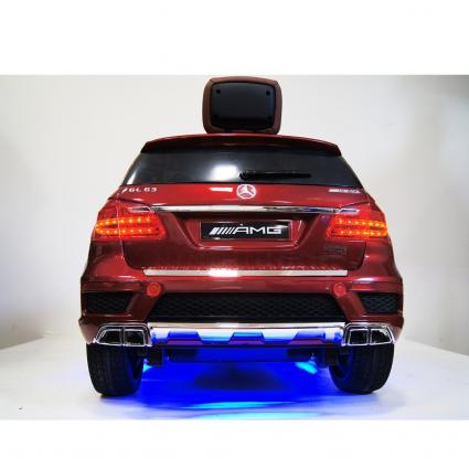 Электромобиль Mercedes-Benz GL63 AMG LUXURY 4WD красный (колеса резина, сиденье кожа, пульт, музыка)
