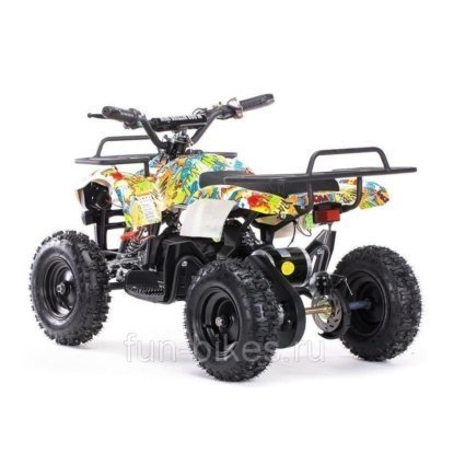 Детский квадроцикл на аккумуляторе MOTAX Mini Grizlik Х-16 мощностью 800W желтый - камуфляж (пульт контроля, до 30 км/ч)