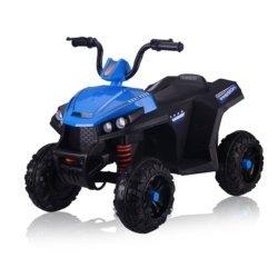 Электроквадроцикл T111TT синий (колеса резина, сиденье кожа, музыка, свет)
