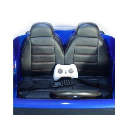 Электромобиль Mercedes-Benz AMG GLC63 2.0 Coupe 4WD синий (двухместный, колеса резина, кресло кожа, пульт, музыка)