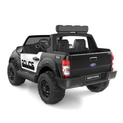 Электромобиль Ford Ranger Raptor Police (полицейский, 2х местный, колеса резина, кресло кожа, пульт, музыка)